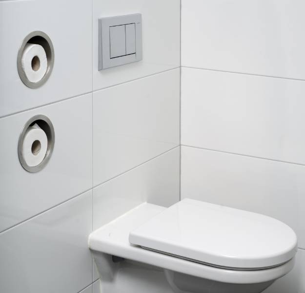 Roll storage round - Toilet roll holder