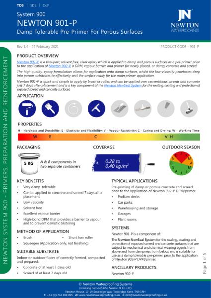 Newton 901-P Data Sheet