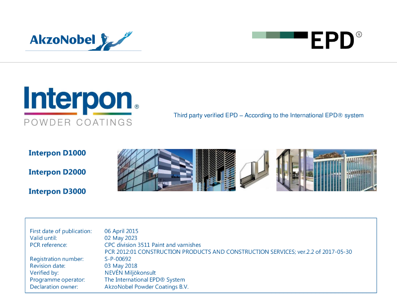 Interpon D Series EPD