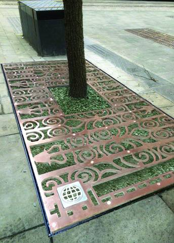 ASF Bespoke Bronze Tree Grilles, NOMA, Manchester
