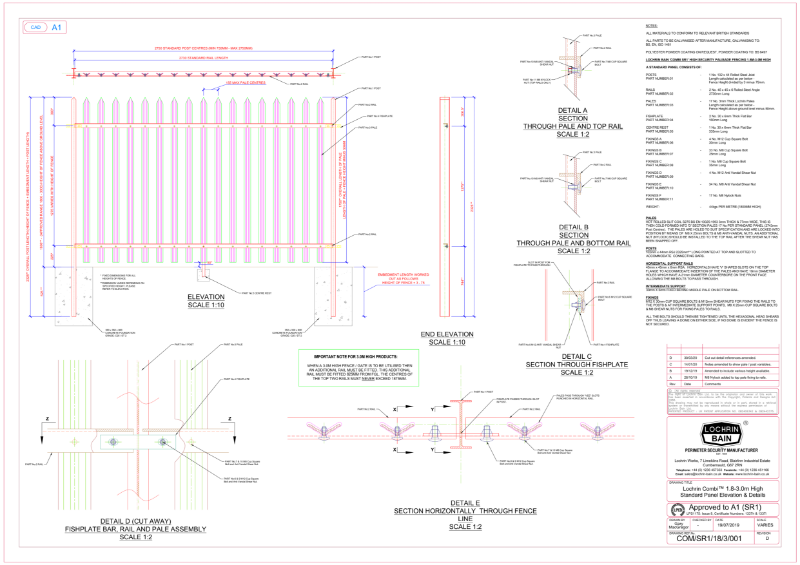 Lochrin Combi SL1 Technical Drawing.