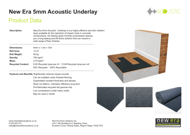 New Era Acoustic Underlay 5mm