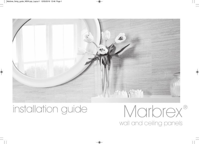 Marbrex Wall & Ceiling Panels: Installation Guide