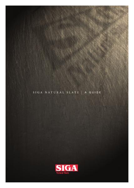 1. SIGA Slate Brochure