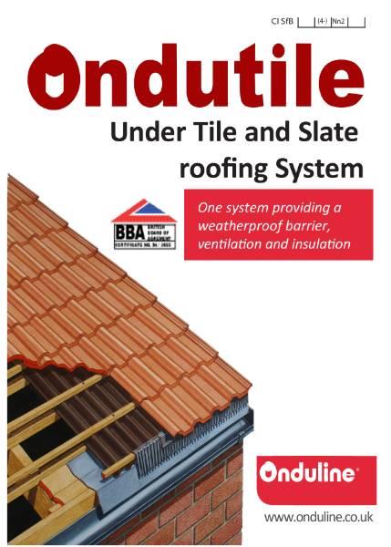 Ondutile Under Tile and Slate Undersheeting System