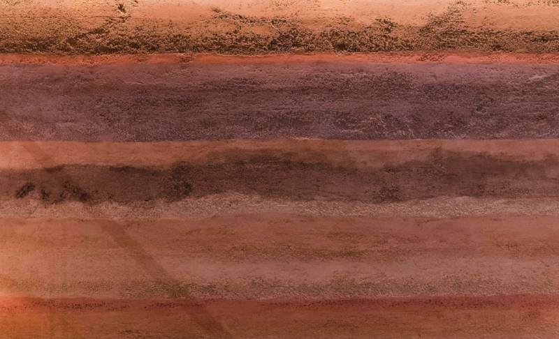 Rammed Earth Effect Clay Plaster