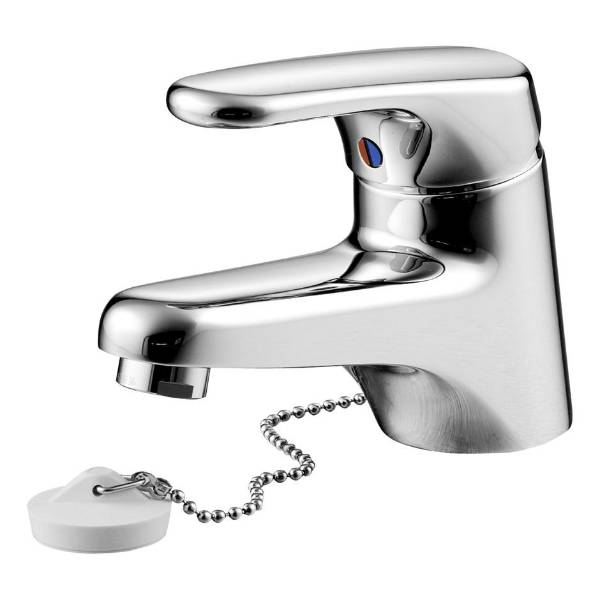 Sandringham SL Single Lever One Hole Basin Mixer With Weighted Chain