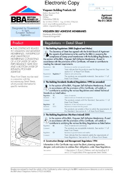 Self-adhesive membranes
