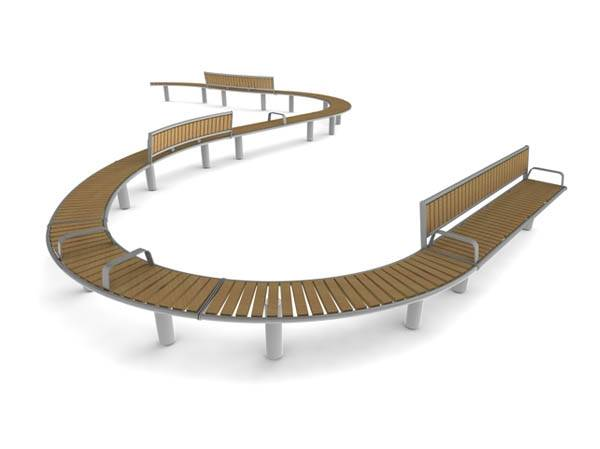 Horizon Curved - Seat and Bench Combination