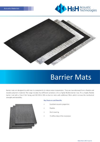 Acoustic Barrier Mats