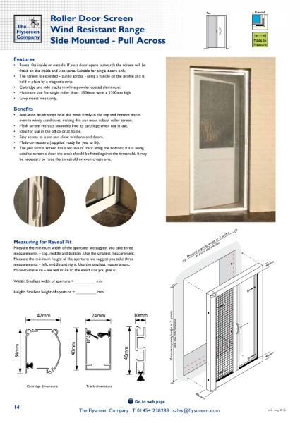Flyscreen Roller Door - Wind Resistant - Side Mounted