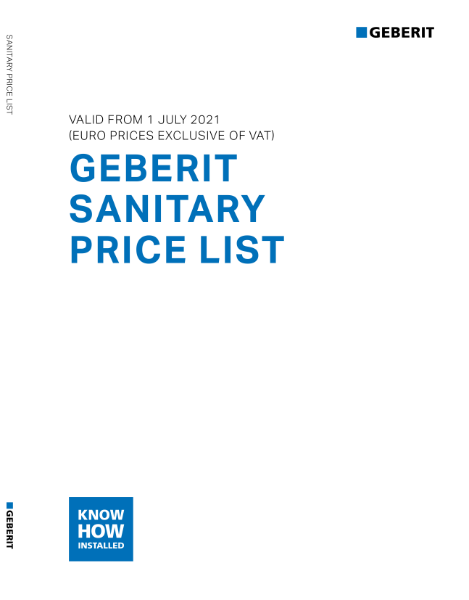 Sanitary Ceramics Price List - July 1st 2021 EURO