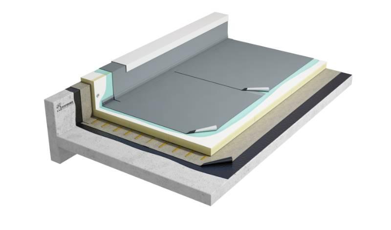 Flagon Sb - Single ply fully adhered warm roof system (CNB2PGFABG_001)