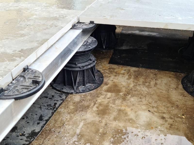 Ceramic tile rail substructure system