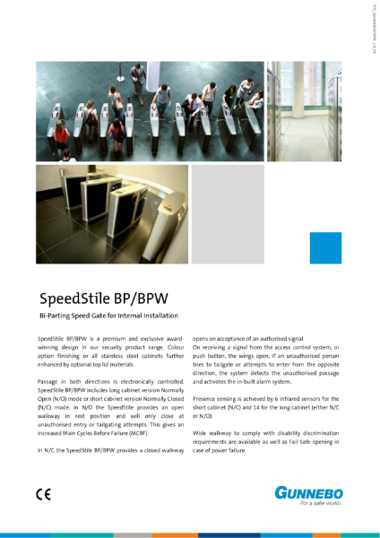Speed Gate - SpeedStile BP & BPW