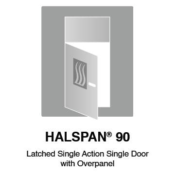 HALSPAN® 90 Fire Rated Interior Grade Door Blanks - Latched Single Acting Single Doors With Overpanel