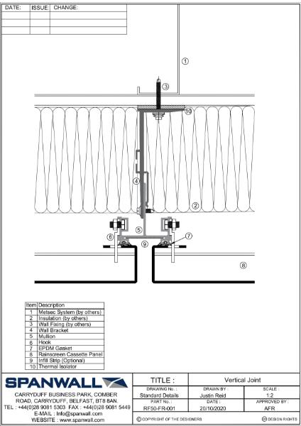 RF50-FR vertical details