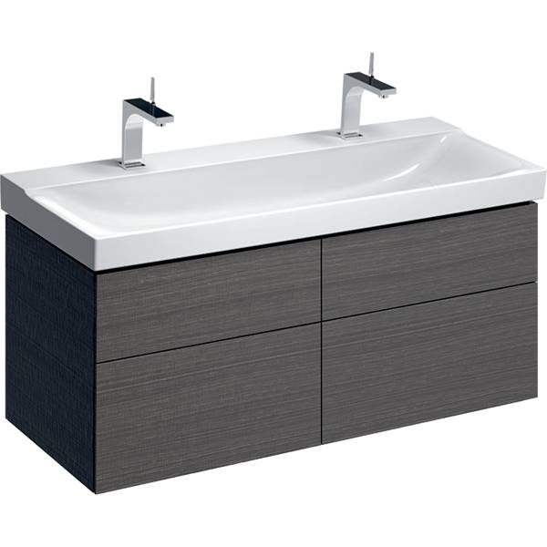 Xeno² cabinet for washbasin with width from 120 cm, with four drawers