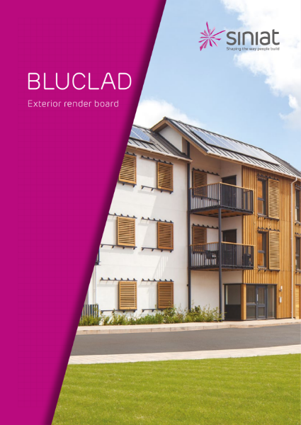 Siniat Bluclad - High performance fibre cement board for external applications.