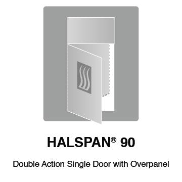 HALSPAN® 90 Fire Rated Interior Grade Door Blanks - Double Acting Single Doors With Overpanel
