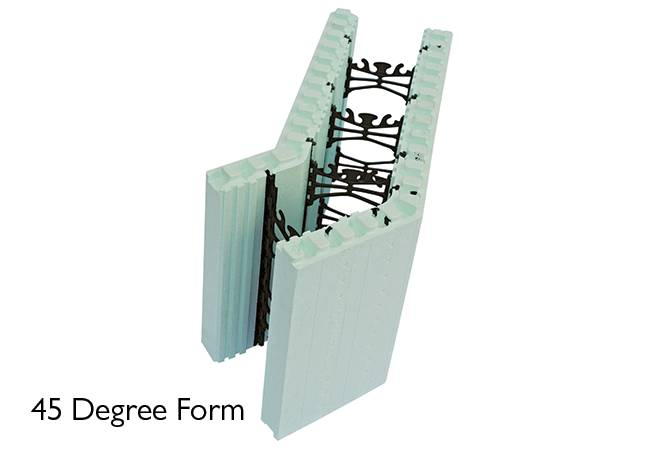 Nudura 45 Degree ICF unit