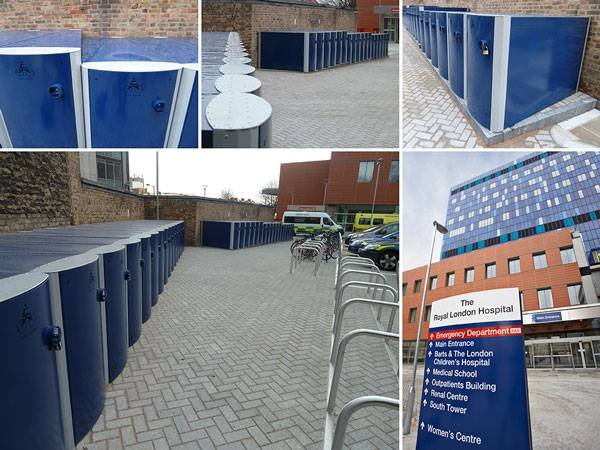 Velo-Safe Bicycle Lockers at QA Hospital