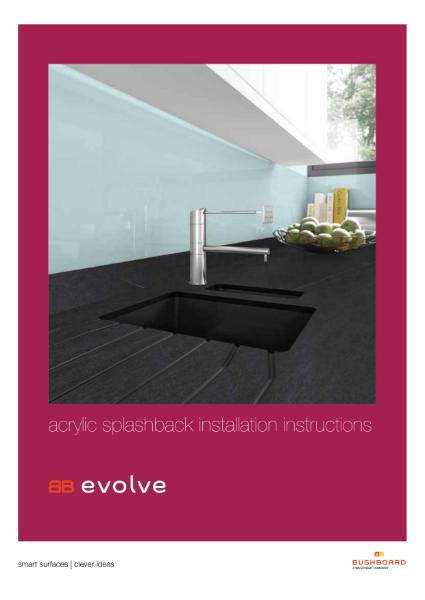 Acrylic Splashback Installation Instructions