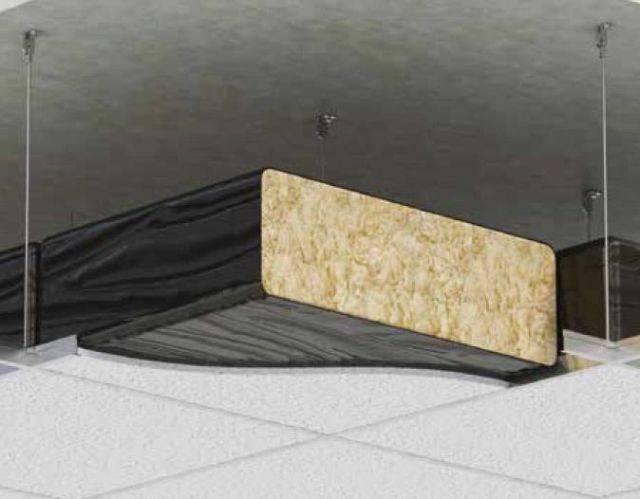 563 Black Polythene Enclosed Glass Fibre Ceiling Pad