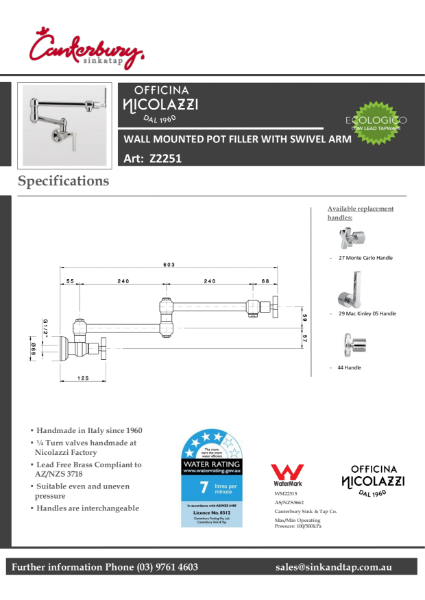 Z2251 Macinley technical specification