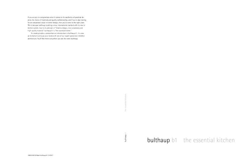 bulthaup b1 Brochure