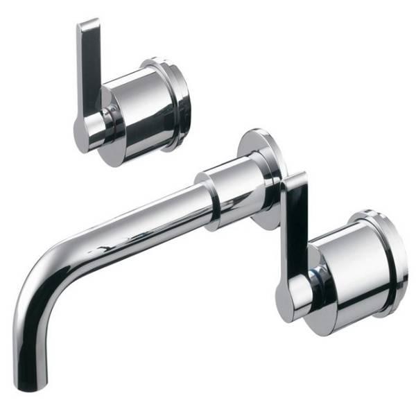 Silver Wall Basin Mixers