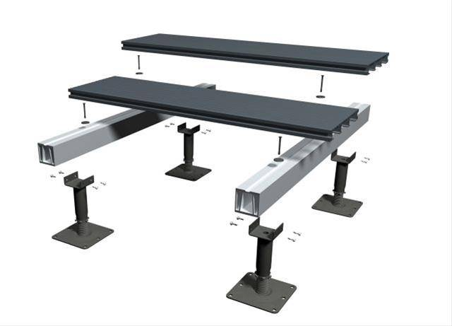 RynoAluTerrace™ Adjustable Aluminium Decking System for Terraces