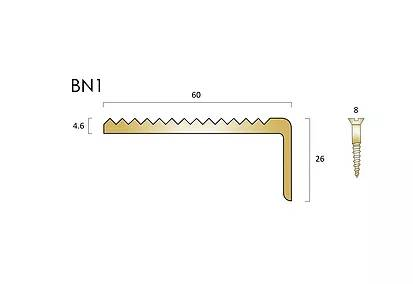 BN1 brass stair nosings