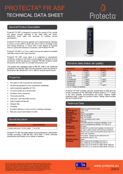 FR ASF - Technical Data Sheet