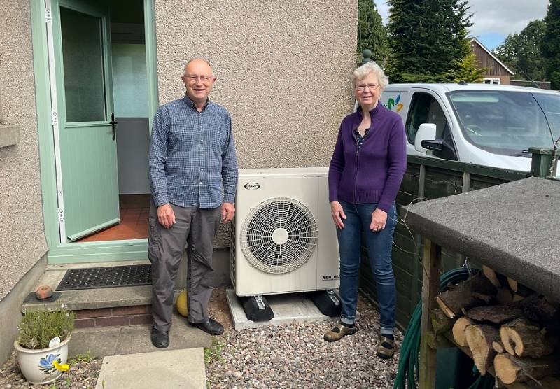 Dunfermline home makes the switch from oil to a heat pump
