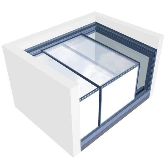 Three Wall Box Rooflight - Right Exit