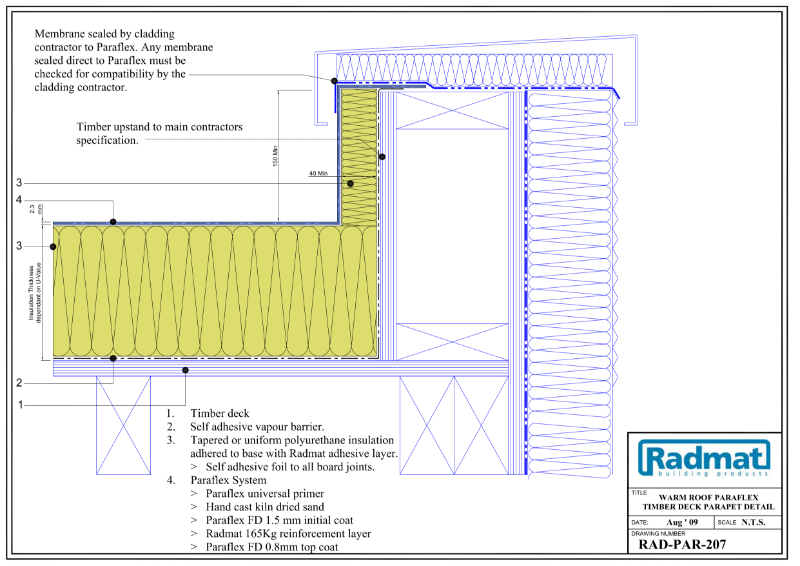 Warm Roof Paraflex Roof Systems drawings 207-403