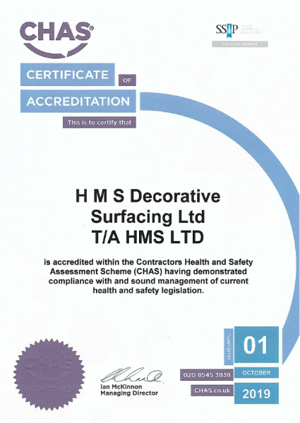 CHAS Health & Safety certificate