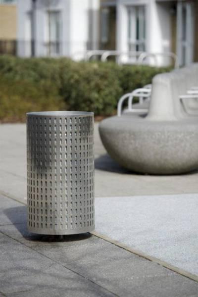 Ollerton Metropolitan Stainless Steel Litter Bin