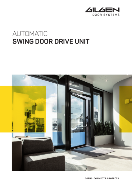 Gilgen FD 20 Swing Door Brochure
