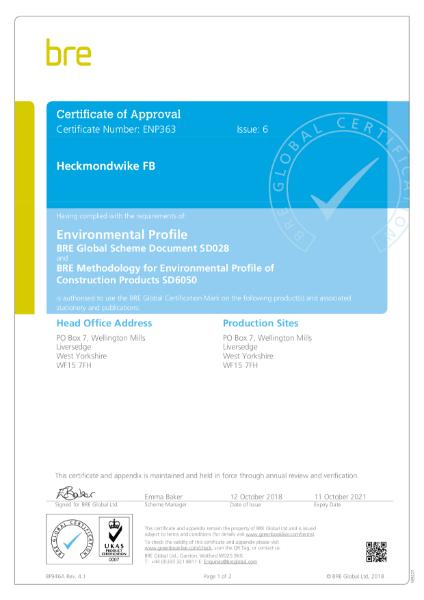 Heckmondwike BREEAM Certifcation