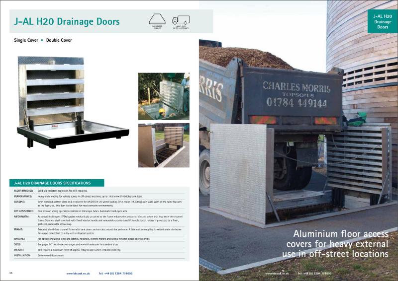 TYPE J-AL/JD-AL H-20 Floor Access Door with Drainage