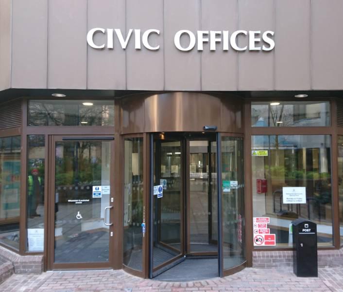 IMPRESSIVE ENTRANCE FOR COUNCIL OFFICES
