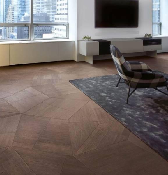 Slide Engineered Geometric Oak Flooring/ Wall Panelling