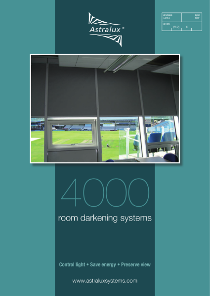 Astralux 4000 Dim-Out Blind System