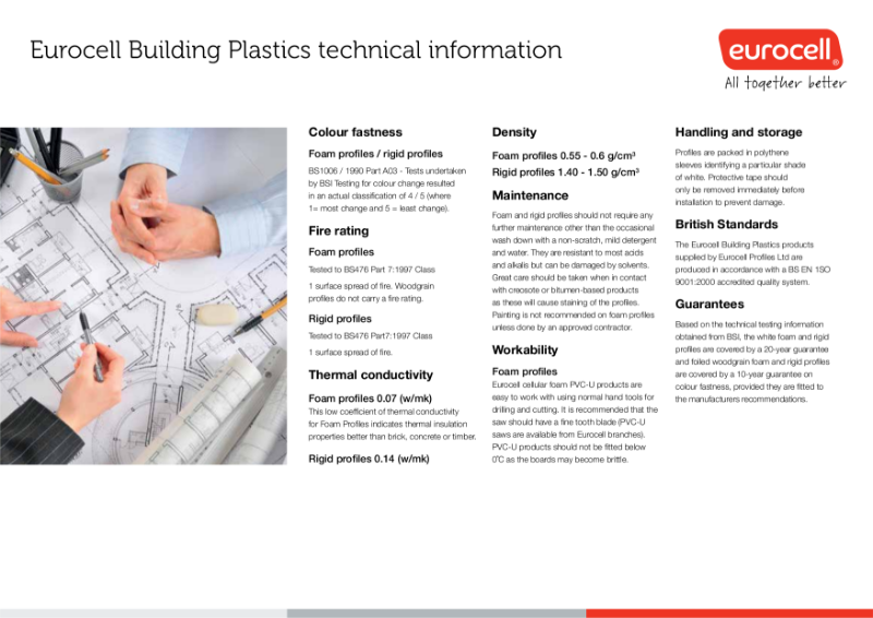 Eurocell Building Plastics Technical Information