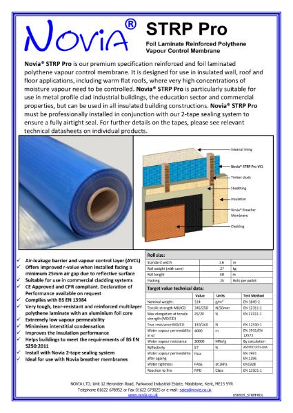 Novia STRP Pro High Performance Reinforced Foil VCL