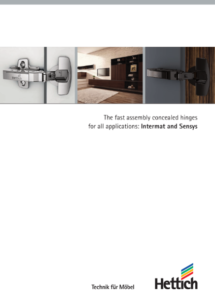 Product Catalogue - Intermat and Sensys Hinges System