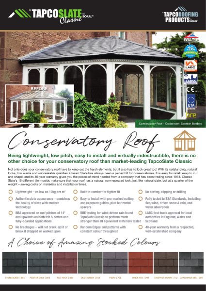 TapcoSlate Classic Conservatory
