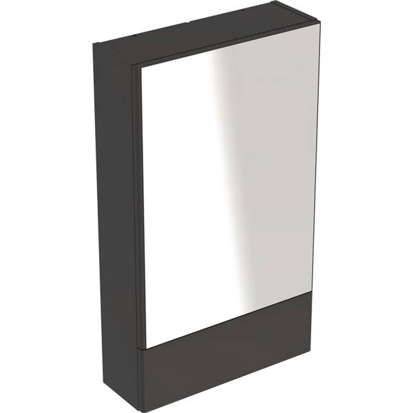 Selnova Square mirror cabinet with one door and one pull-down door